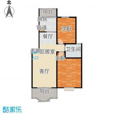 昌鑫协和园83.00㎡房型: 二房; 面积段: 83 -95.6 平方米;户型