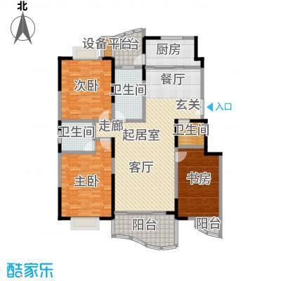 金日世家玉兰苑140.00㎡房型: 三房; 面积段: 140 -150 平方米; 户型
