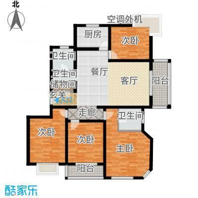 月泉湾名邸134.53㎡房型: 四房; 面积段: 134.53 -148.39 平方米;户型