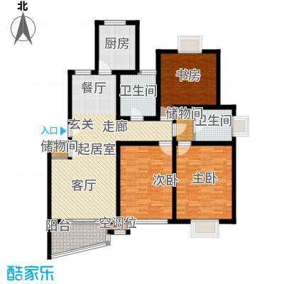 恺源景江苑121.00㎡房型: 三房; 面积段: 121 -152 平方米;户型