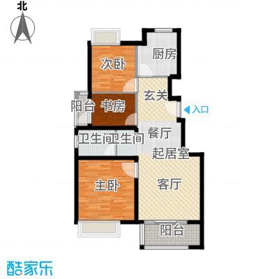 中国铁建青秀城90.00㎡B2户型3室1卫1厨