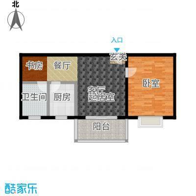 通田商住楼60.00㎡房型: 一房; 面积段: 60 -70 平方米;户型