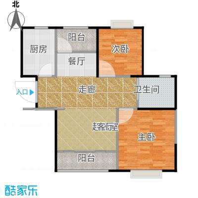 中冶锦园B5A户型2室1卫1厨