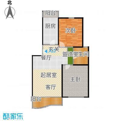 景华世纪园89.66㎡房型: 二房; 面积段: 89.66 -94 平方米;户型