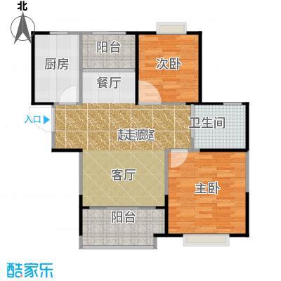 中冶锦园户型2室1卫1厨