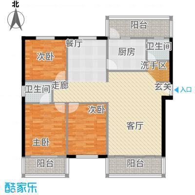 新普盛公寓113.00㎡房型: 三房; 面积段: 113 -143 平方米;户型