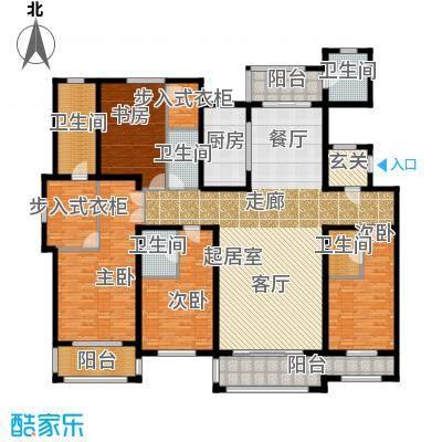 美兰湖中华园铂珏公馆C户型4室5卫1厨