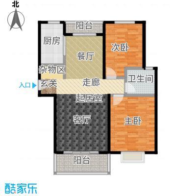 通田商住楼100.00㎡房型: 二房; 面积段: 100 -110 平方米;户型