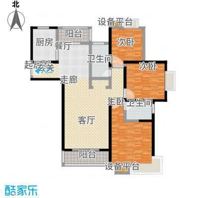 世纪飞凡锦城(世纪长江苑)3房2厅1卫,面积约138平方米户型