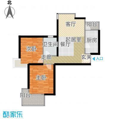 三花现代城三期B9户型2室1卫1厨