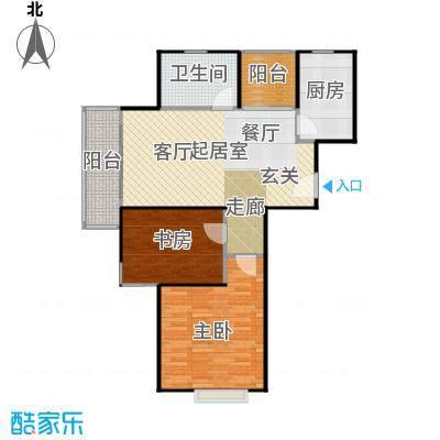 三花现代城三期B7户型2室1卫1厨