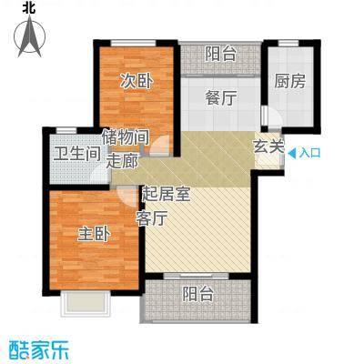 三花现代城三期B2户型2室1卫1厨