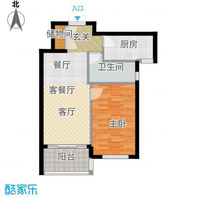 尚海湾豪庭房型户型1室1厅1卫1厨