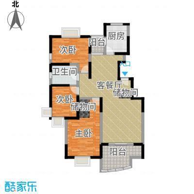 中星海上华庭113.62㎡房型户型10室