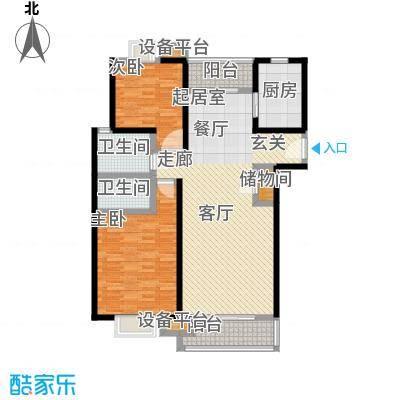 世纪飞凡锦城(世纪长江苑)2房2厅2卫,面积约116平方米户型
