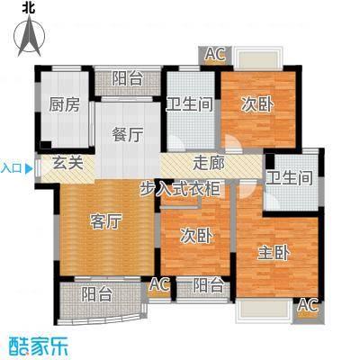 海尚明城(福地苑)户型3室1厅2卫1厨