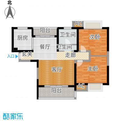 海尚明城(福地苑)100.00㎡房型: 二房; 面积段: 100 -110 平方米;户型
