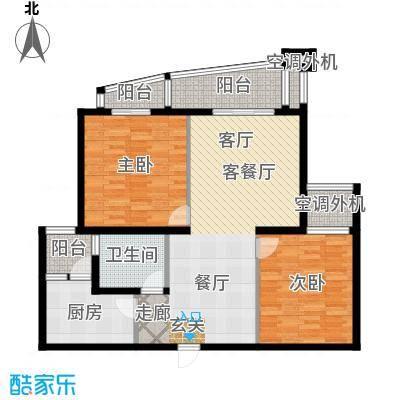 共和居住小区五街坊两房两厅一卫108平全朝南户型