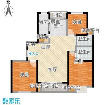 世纪飞凡锦城(世纪长江苑)3房2厅2卫,面积约150平方米户型
