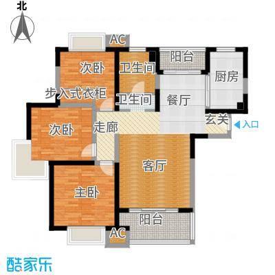 海尚明城(福地苑)户型3室1厅1卫1厨