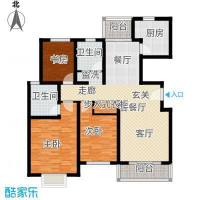成亿宝盛家苑北块125.55㎡房型: 三房; 面积段: 125.55 -125.55 平方米;户型