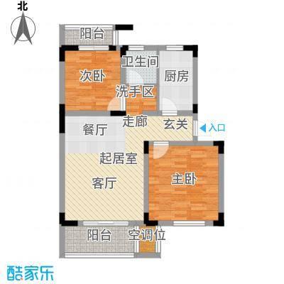 大华河畔华城一期75.32㎡房型: 二房; 面积段: 75.32 -97.55 平方米;户型