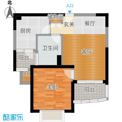 海尚明城(福地苑)户型1室1厅1卫1厨
