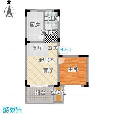 大华河畔华城一期58.27㎡房型: 一房; 面积段: 58.27 -69.26 平方米;户型