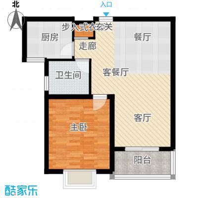 成亿宝盛家苑北块68.99㎡房型: 一房; 面积段: 68.99 -68.99 平方米;户型