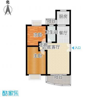 宝业馨康苑二期97.00㎡房型: 二房; 面积段: 97 -101.86 平方米;户型