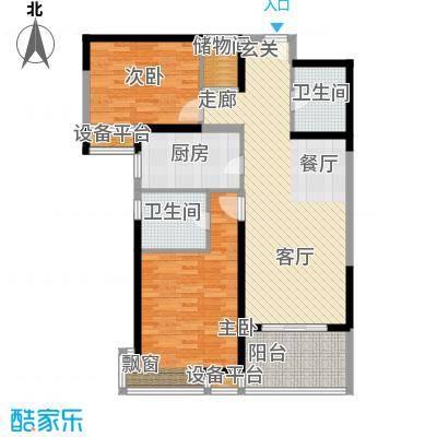 徐汇临江豪园100.00㎡房型: 二房; 面积段: 100 -110 平方米; 户型