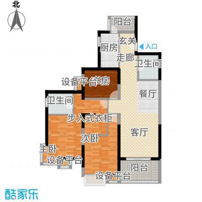 徐汇临江豪园120.00㎡房型: 三房; 面积段: 120 -130 平方米; 户型