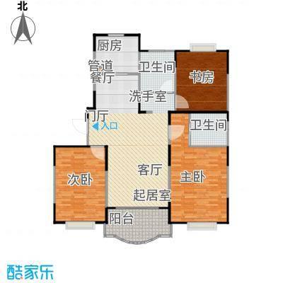 天馨花园八――十二期127.00㎡三房二厅二卫,面积约127平方米户型