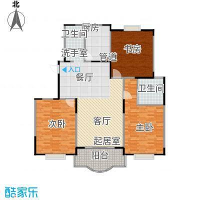 天馨花园八――十二期131.00㎡三房二厅二卫,面积约131平方米户型