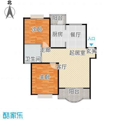 天馨花园八――十二期90.00㎡房型: 二房; 面积段: 90 -100 平方米;户型