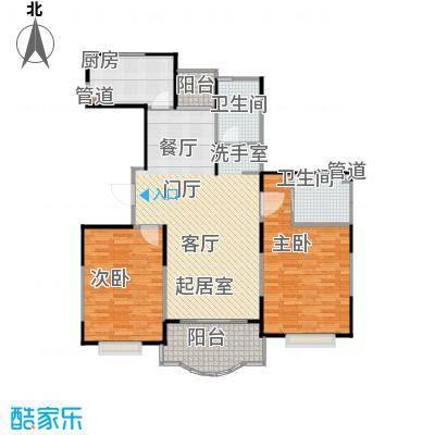 天馨花园八――十二期114.00㎡二房二厅二卫,面积约114平方米户型