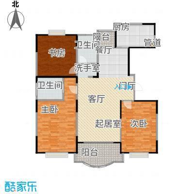 天馨花园八――十二期132.00㎡三房二厅二卫,面积约132平方米户型