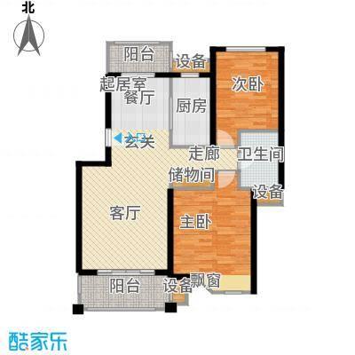 宝地绿洲城一期88.31㎡房型: 二房; 面积段: 88.31 -102.85 平方米;户型