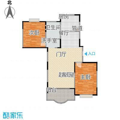 天馨花园八――十二期98.00㎡二房二厅二卫,面积约98平方米户型