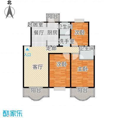 天馨花园八――十二期110.00㎡房型: 三房; 面积段: 110 -140 平方米;户型