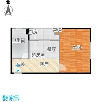 高欣公寓48.98㎡房型: 一房; 面积段: 48.98 -55.86 平方米; 户型