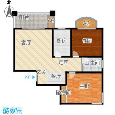 城投世纪名城二期两室两厅一卫105平米户型LL