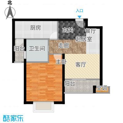 好世皇马苑67.00㎡D户型2室2厅1卫