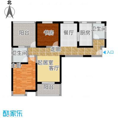 中冶祥腾城市广场户型2室2卫1厨