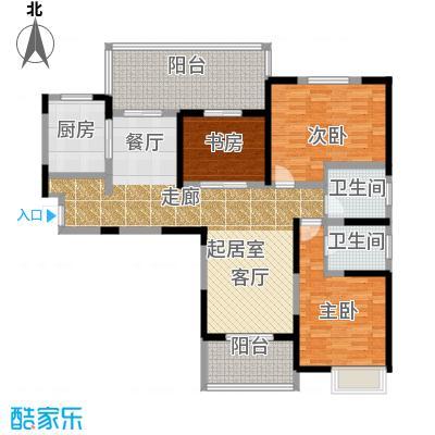 中冶祥腾城市广场户型3室2卫1厨