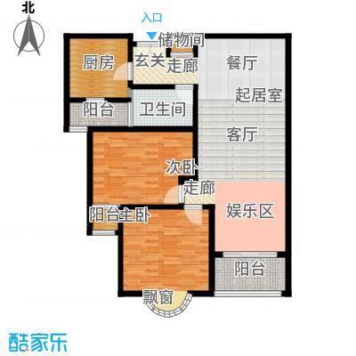 静安桂花园105.00㎡房型: 二房; 面积段: 105 -105 平方米; 户型