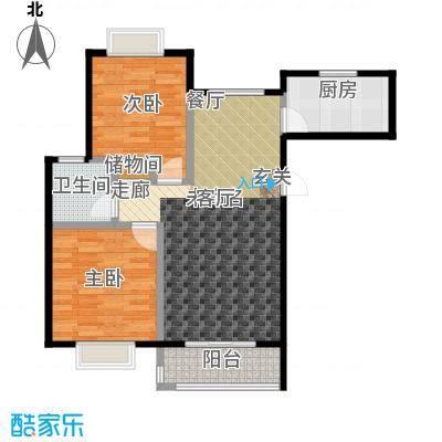 绿地百年宅B1户型2室1卫1厨