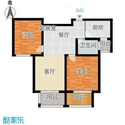 西上海名邸B3户型2室1卫1厨