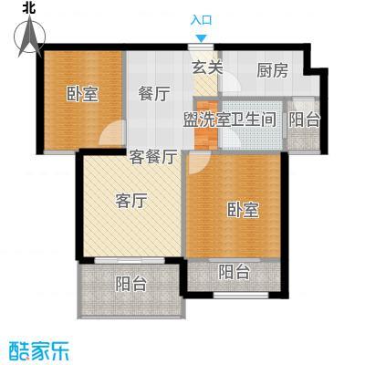 天居玲珑湾公寓B2户型1厅1卫1厨