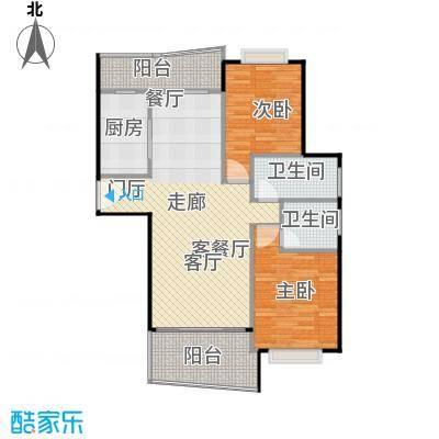 静安丽舍二期102.56㎡房型: 二房; 面积段: 102.56 -129.05 平方米;户型